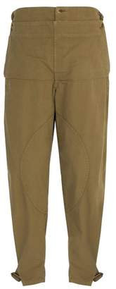 J.W.Anderson Garment-dyed army cotton trousers