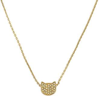"Karl Lagerfeld Paris Silhouette Choupette Necklace, 16"""