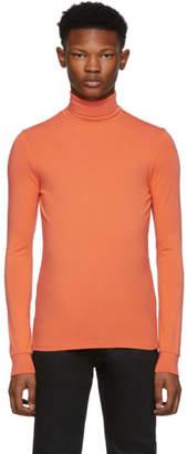 Raf Simons Orange Classic Souspull Turtleneck