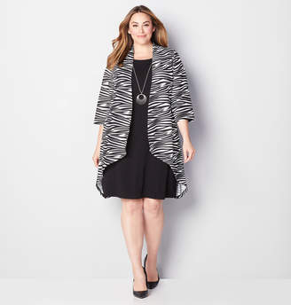 Avenue Zebra Jacket Dress