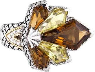 Candela Andrea Ra 18K & Silver 9.78 Ct. Tw. Diamond & Gemstone Ring