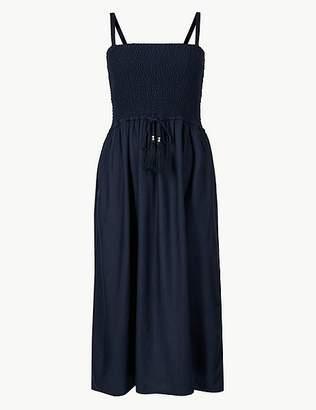 Marks and Spencer Shirred Swing Midi Beach Dress