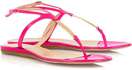 Alexander McQueen Patent leather sandals