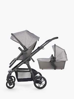 Silver Cross Coast Pushchair and Carrycot, Limestone