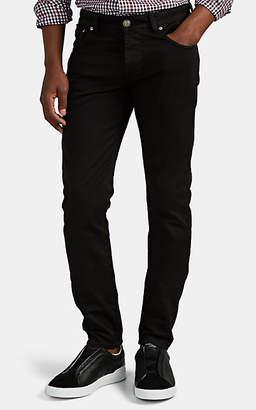 Isaia Men's Five-Pocket Slim Jeans - Black