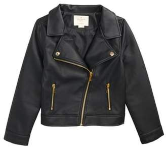 Kate Spade faux leather moto jacket