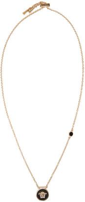 Versace Black Small Medusa Necklace $375 thestylecure.com