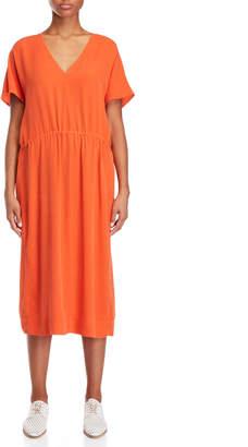 Alysi V-Neck Silk Maxi Dress
