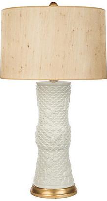 Barclay Butera For Bradburn Home Koi Fish Couture Table Lamp - Cream/Gold