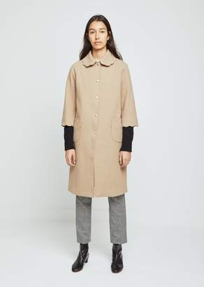 Hache Scallop Collar Coat