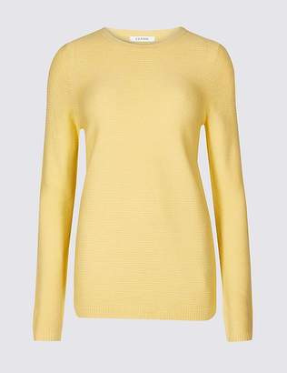 Marks and Spencer Ripple Round Neck Jumper