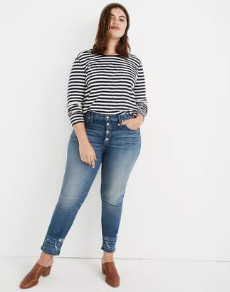 Madewell Slim Straight Jeans: Distressed Button-Front Edition