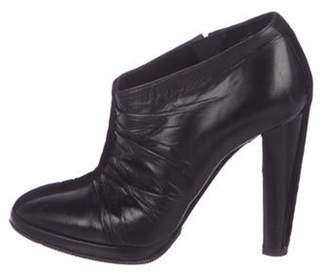 Pierre Hardy Leather Round-Toe Booties Black Leather Round-Toe Booties
