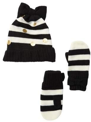 Kate Spade Hat & Mittens Set
