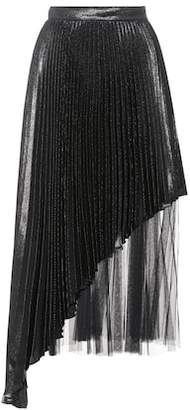 Christopher Kane Silk-blend pleated skirt
