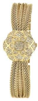 Anne Klein Ladies Gold Flower Covered Dial Watch