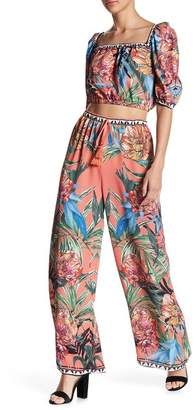 Flying Tomato Patterned Woven Palazzo Pants