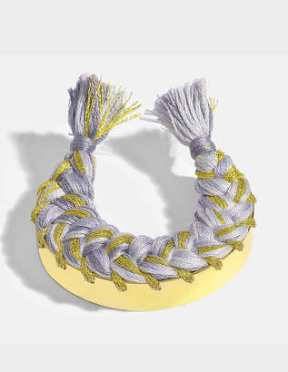 Aurelie Bidermann Copacabana Bracelet in Jersey 18K Gold-Plated Brass