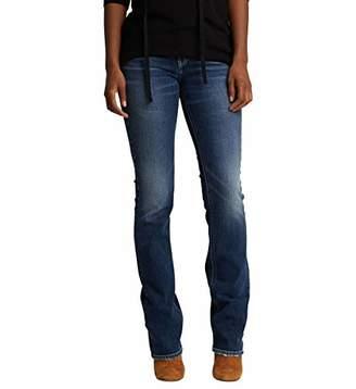 Silver Jeans Co. Women's Suki Curvy Fit Mid Rise Slim Bootcut Flap Pockets