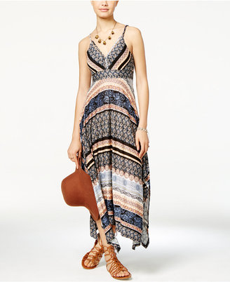 American Rag Printed Handkerchief-Hem Maxi Dress, Only at Macy's $69.50 thestylecure.com