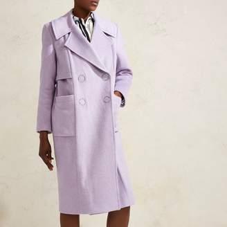 River Island Womens Lilac Purple RI Studio oversized wool coat