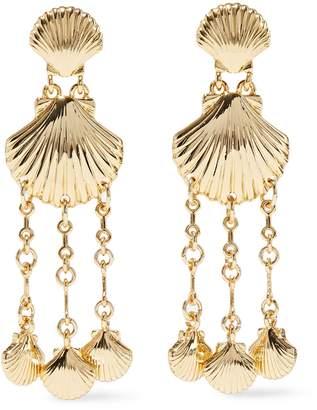 Noir Clam Bake 14-karat Gold-plated Earrings
