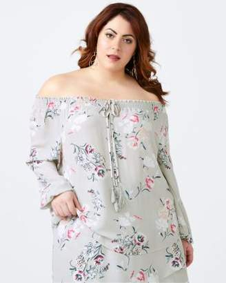 Penningtons Printed Off Shoulder Blouse - In Every Story