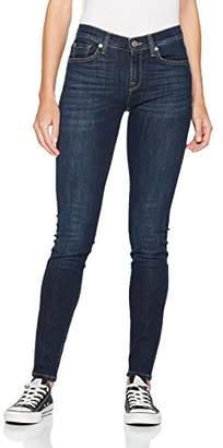 Selected Women's Sfelena Mid Rise Skin Dark Night Noos Skinny Jeans