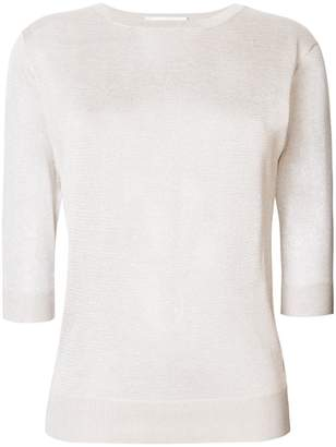 Zanone cropped sleeve sweater