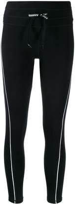 DKNY contrast piped trim leggings