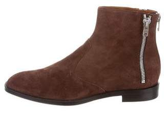 Givenchy Suede Zip Ankle Boots w/ Tags