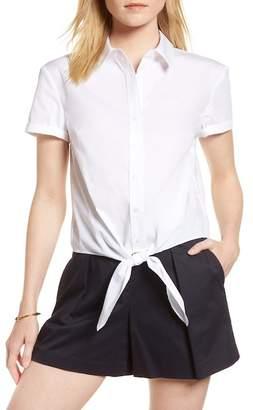 1901 Tie Front Poplin Shirt