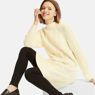 Uniqlo Women's Cable Knit Long-sleeve Dress