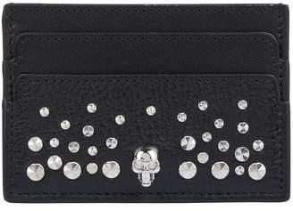Alexander McQueen Stud Embellished Card Holder