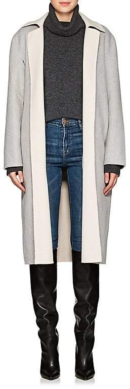 Women's Double-Faced Wool-Blend Wrap Coat