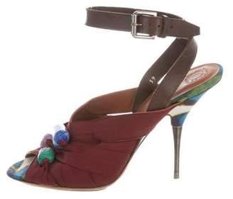 Dries Van Noten Slingback Embellished Sandals