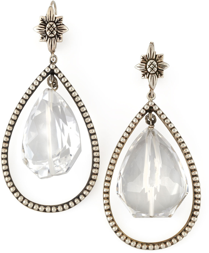 Stephen Dweck Nouveau Rock Crystal Drop Earrings