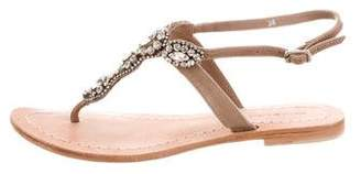 Antik Batik Leather Embellished Sandals