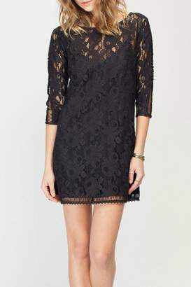 Gentle Fawn Lace Overlay Dress
