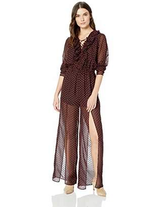 The Fifth Label Women's Titania Lace-up Sheer Ruffle Jumpsuit