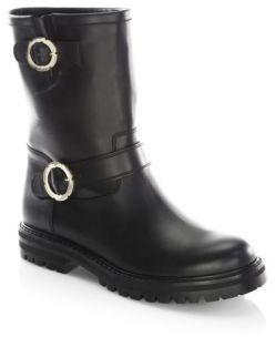 Salvatore Ferragamo Asti Leather Boots