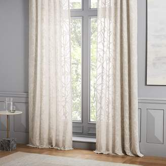 west elm Sheer Abstract Glass Curtain