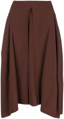 Chloé pleated front midi skirt