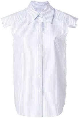 MM6 MAISON MARGIELA pinstripe sleeveless shirt