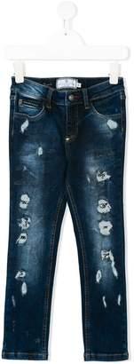 Philipp Plein Junior stonewashed jeans