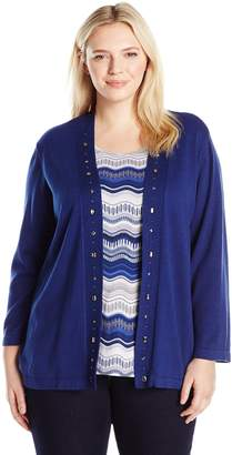 Alfred Dunner Women's Sapphire Twofer Sweater and Tank