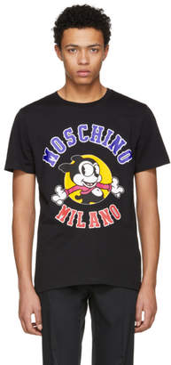 Moschino Black Cartoon Logo T-Shirt