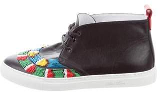 Del Toro African Beaded Sneakers w/ Tags
