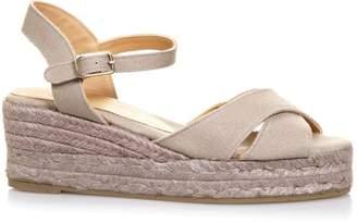 Castaner Beige Crossed Cotton Sandals
