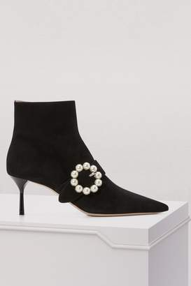 Miu Miu Buckle ankle boots